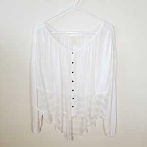 Free People | white button front top